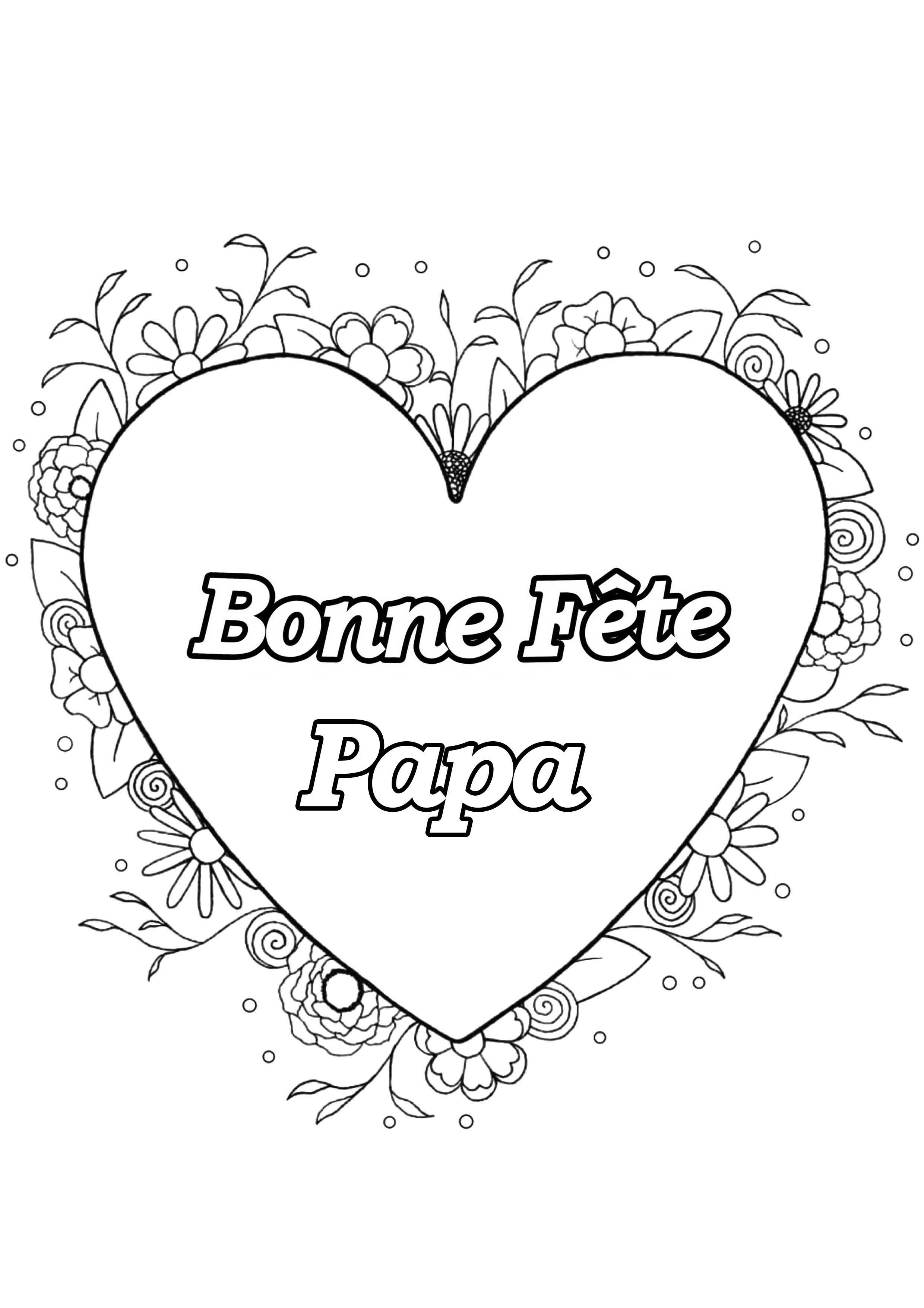 Dessin Bonne Fete Papa : dessin, bonne, Peres, Fête, Pères, Coloriages, Difficiles, Adultes