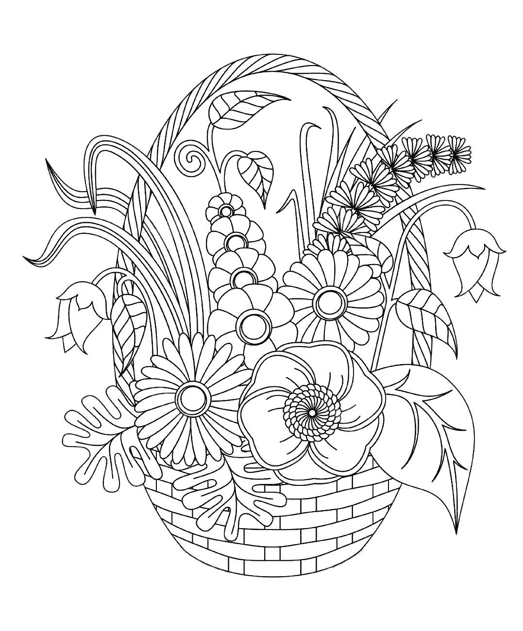 Disegni Fiori Da Colorare Per Adulti : disegni, fiori, colorare, adulti, Fiori, Vegetazione, 45813, Disegni, Colorare, Adulti