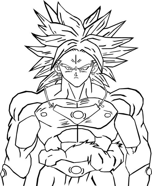 Dessin De Dragon Ball Super : dessin, dragon, super, Broly, Super, Saiyajin, Dragon, Coloring, Pages