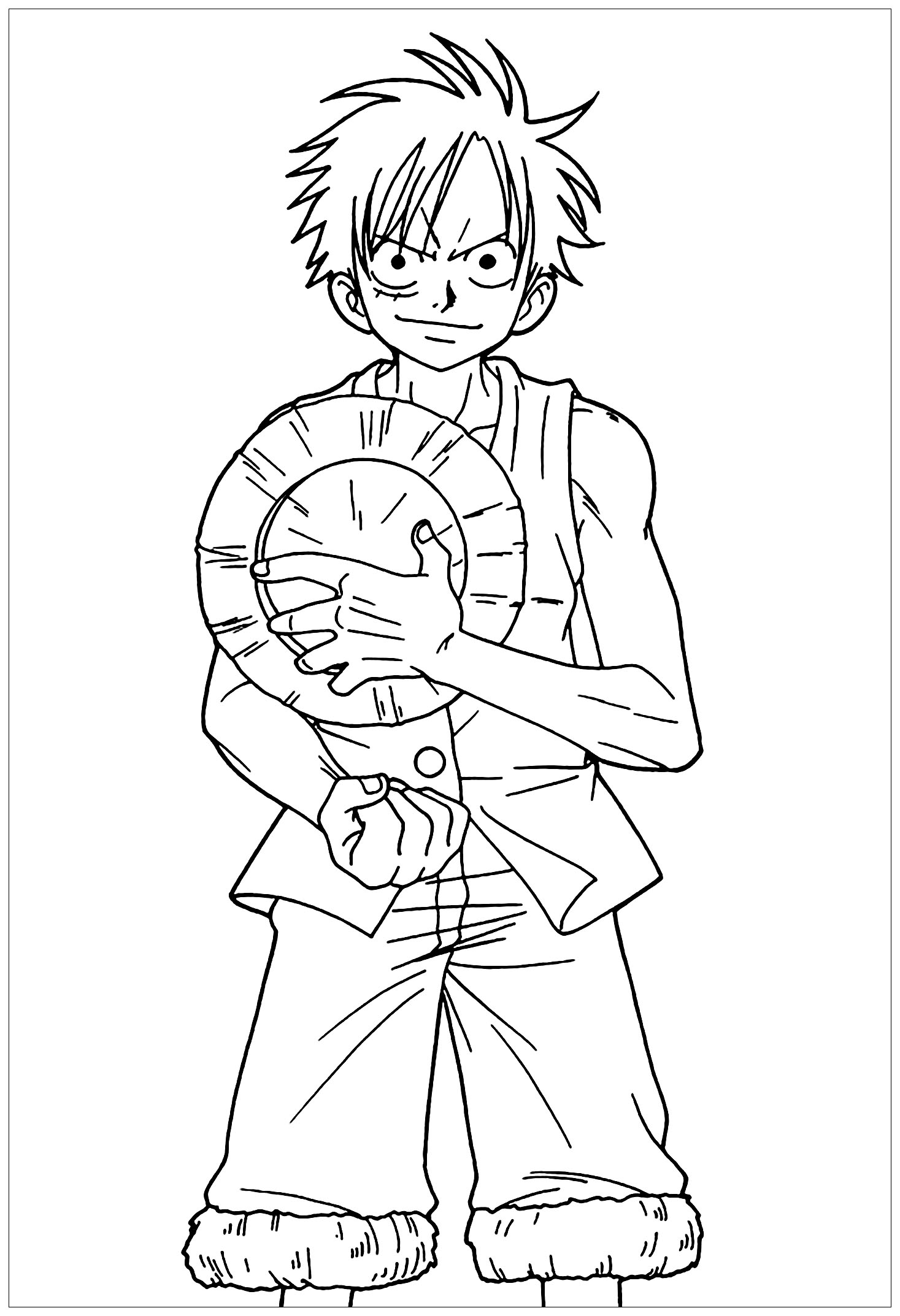One Piece Coloring Pages : piece, coloring, pages, Piece, Color, Coloring, Pages