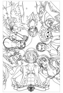 One Piece Coloring Pages : piece, coloring, pages, Piece, Printable, Coloring, Pages