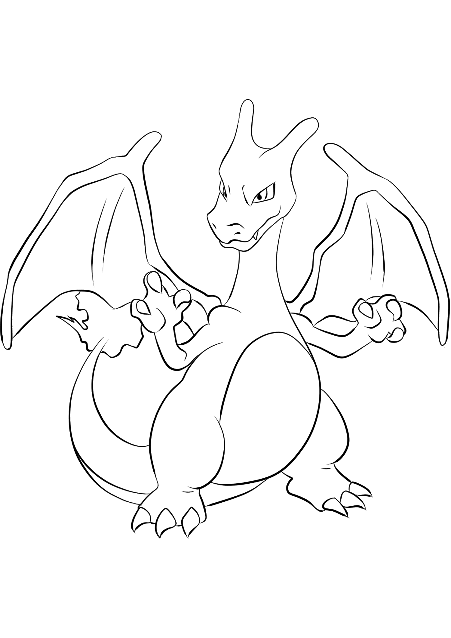 Pokemon Coloring Pages Charizard : pokemon, coloring, pages, charizard, Charizard, No.06, Pokemon, Generation, Coloring, Pages