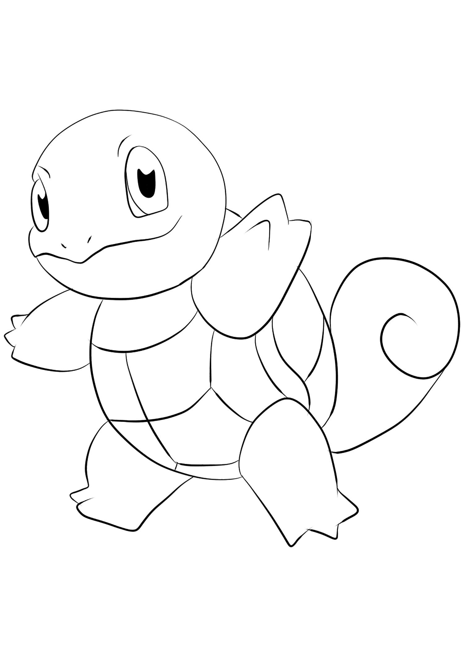 Squirtle Pokemon Coloring Pages : squirtle, pokemon, coloring, pages, Squirtle, No.07, Pokemon, Generation, Coloring, Pages