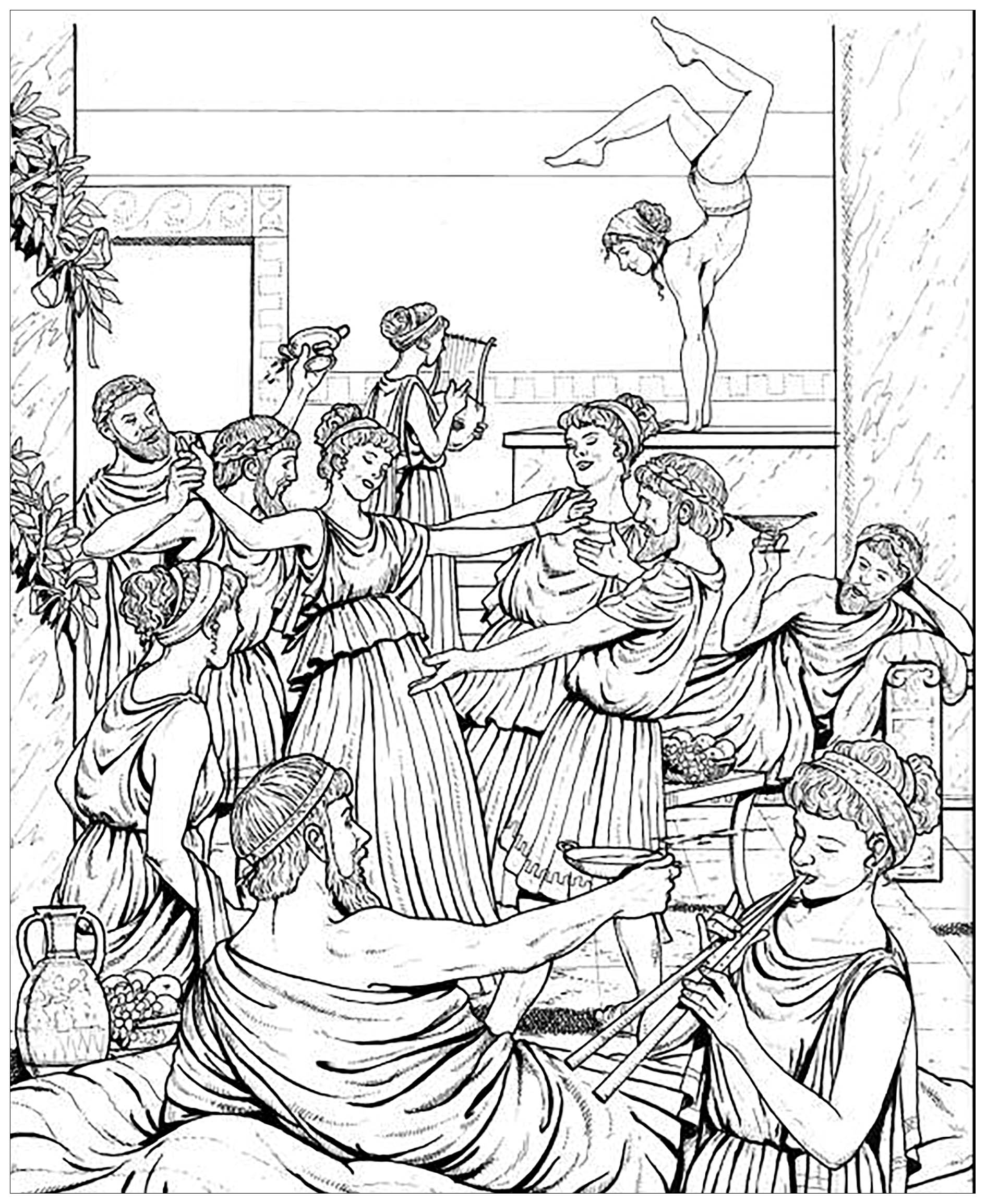 Coloring Book of Ancient Greece | Bellerophon Books