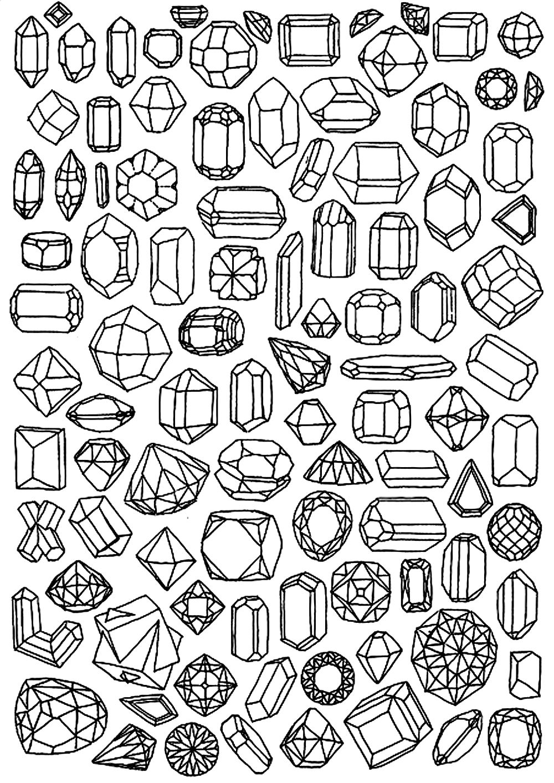 Diamond Coloring Pages : diamond, coloring, pages, Diamond, Coloring, Pages, Adults