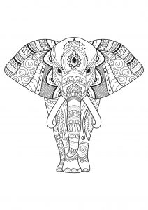 Coloring Pages For Adults Elephant : coloring, pages, adults, elephant, Elephants, Coloring, Pages, Adults