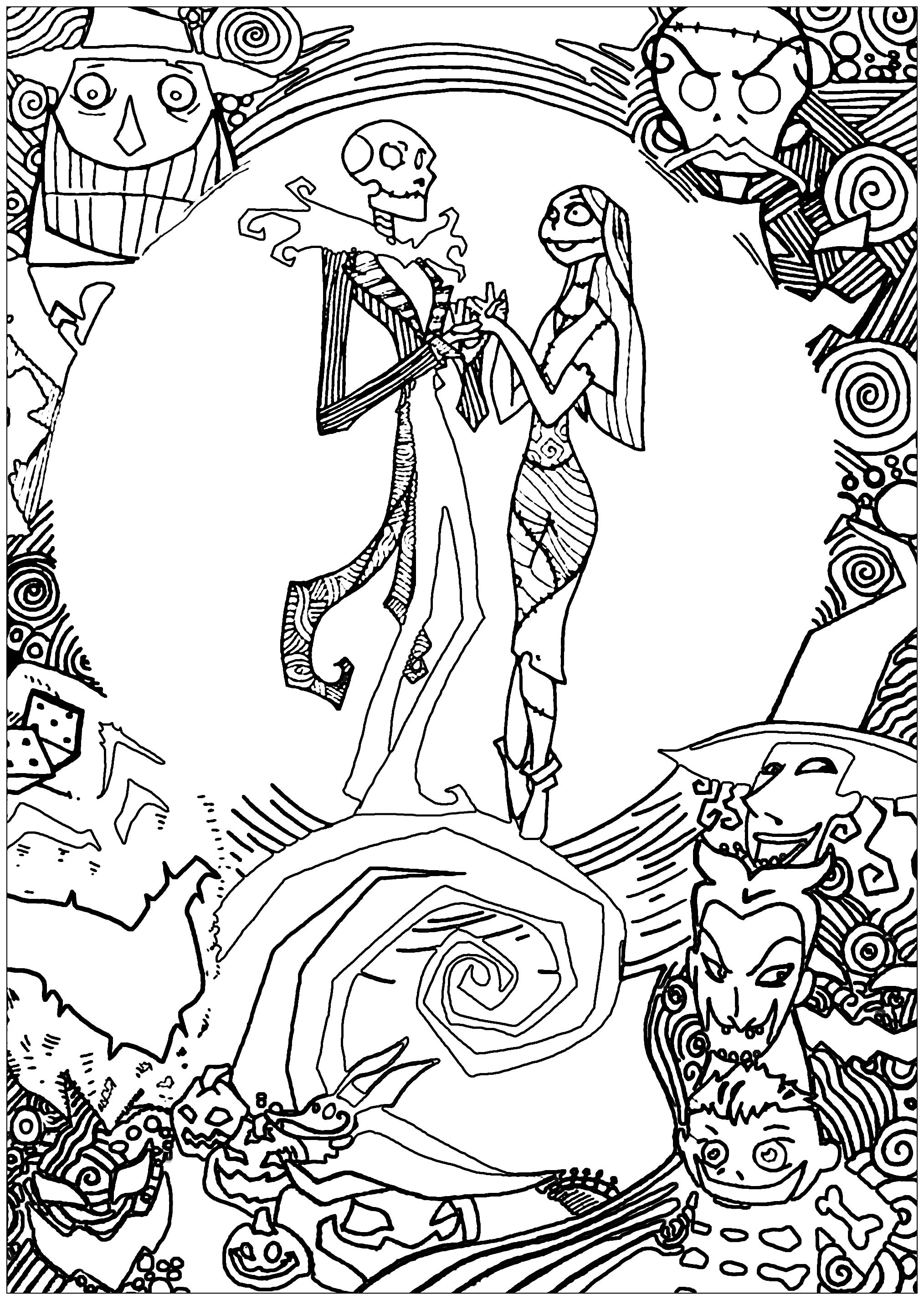 Nightmare Before Christmas Coloring Pages For Adults : nightmare, before, christmas, coloring, pages, adults, Nighmare, Before, Christmas, Sully, Adult, Coloring, Pages