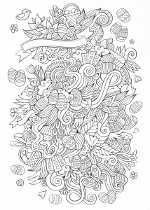 Adult Easter Coloring Pages : adult, easter, coloring, pages, Easter, Coloring, Pages, Adults