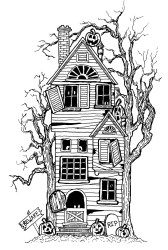 halloween coloring haunted adult pages adults