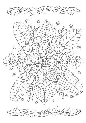 coloring pages simple flowers flower vegetation drawing pattern grown olivier ups adult et sheet adults printable fleurs harmonious leaves few