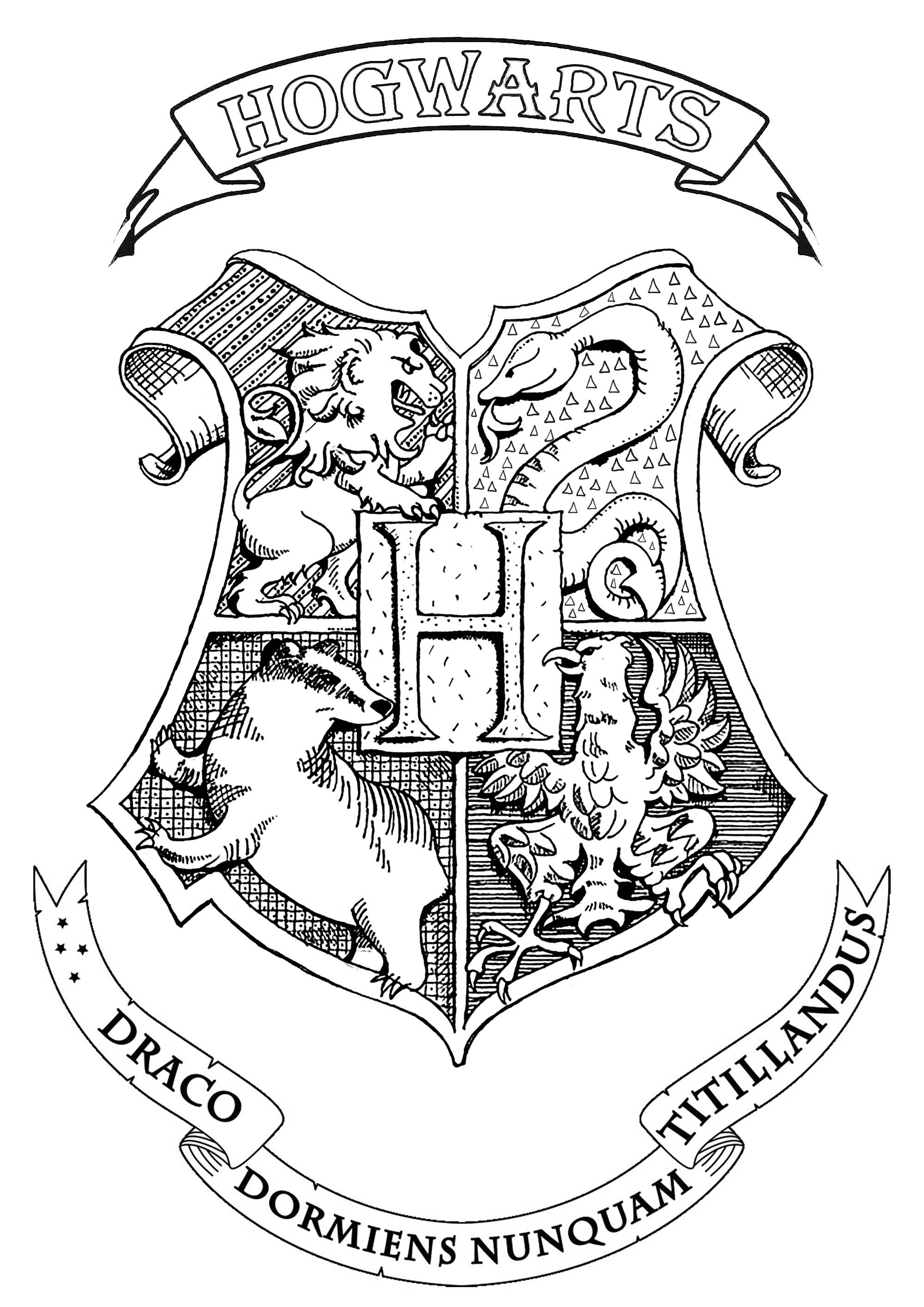 What Is The B Emblem From Harry Potter Coloring Book