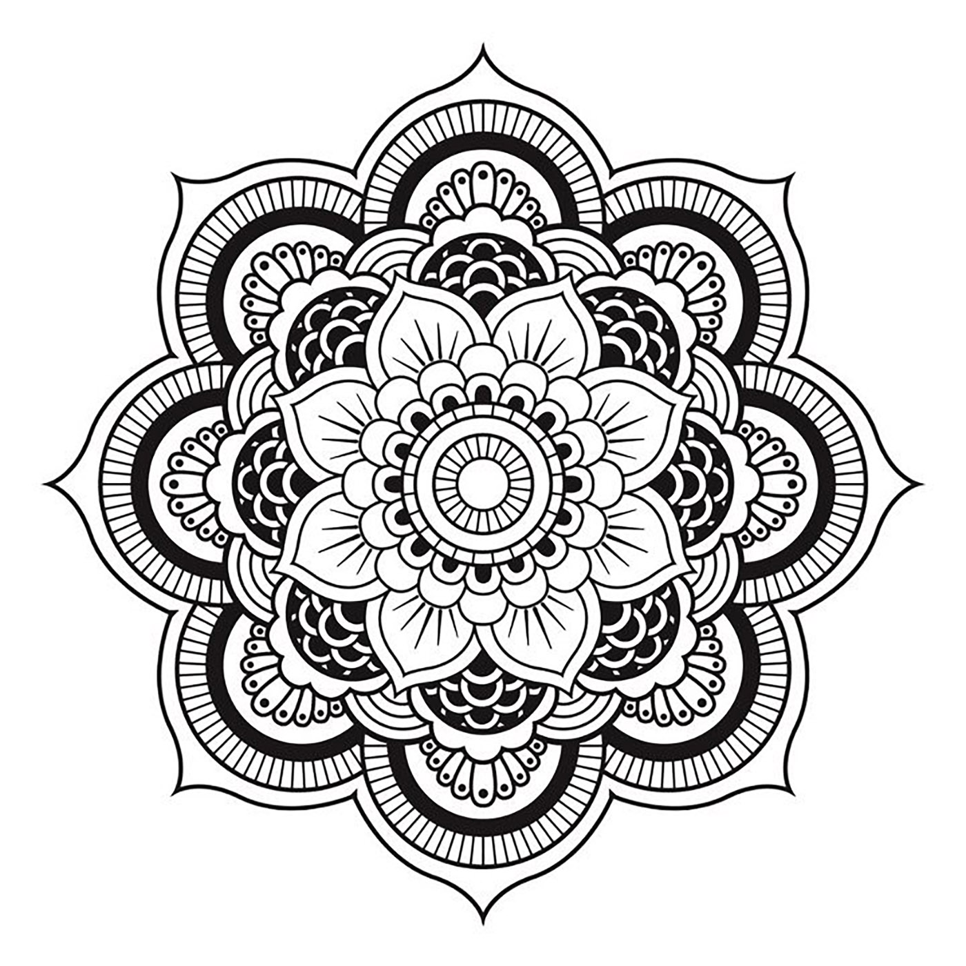 Easy Mandala Relaxation Coloring Book