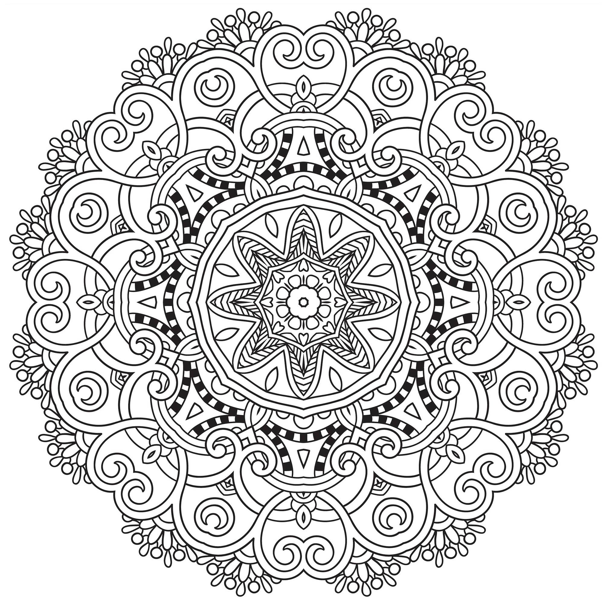 Mandala Coloring Book Pdf Free Kids