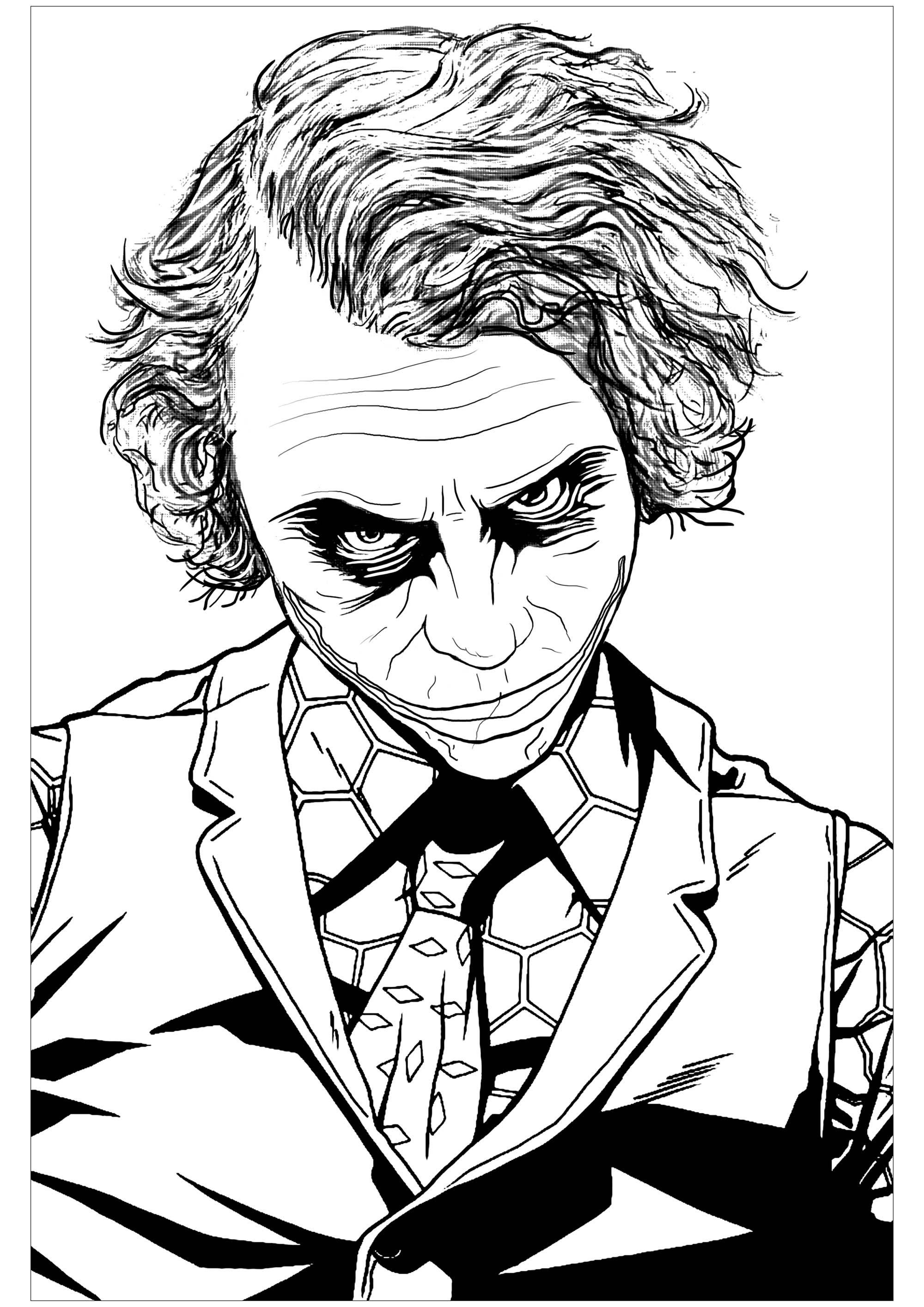 Joker Coloring Pages : joker, coloring, pages, Joker, Heath, Ledger, Movies, Adult, Coloring, Pages
