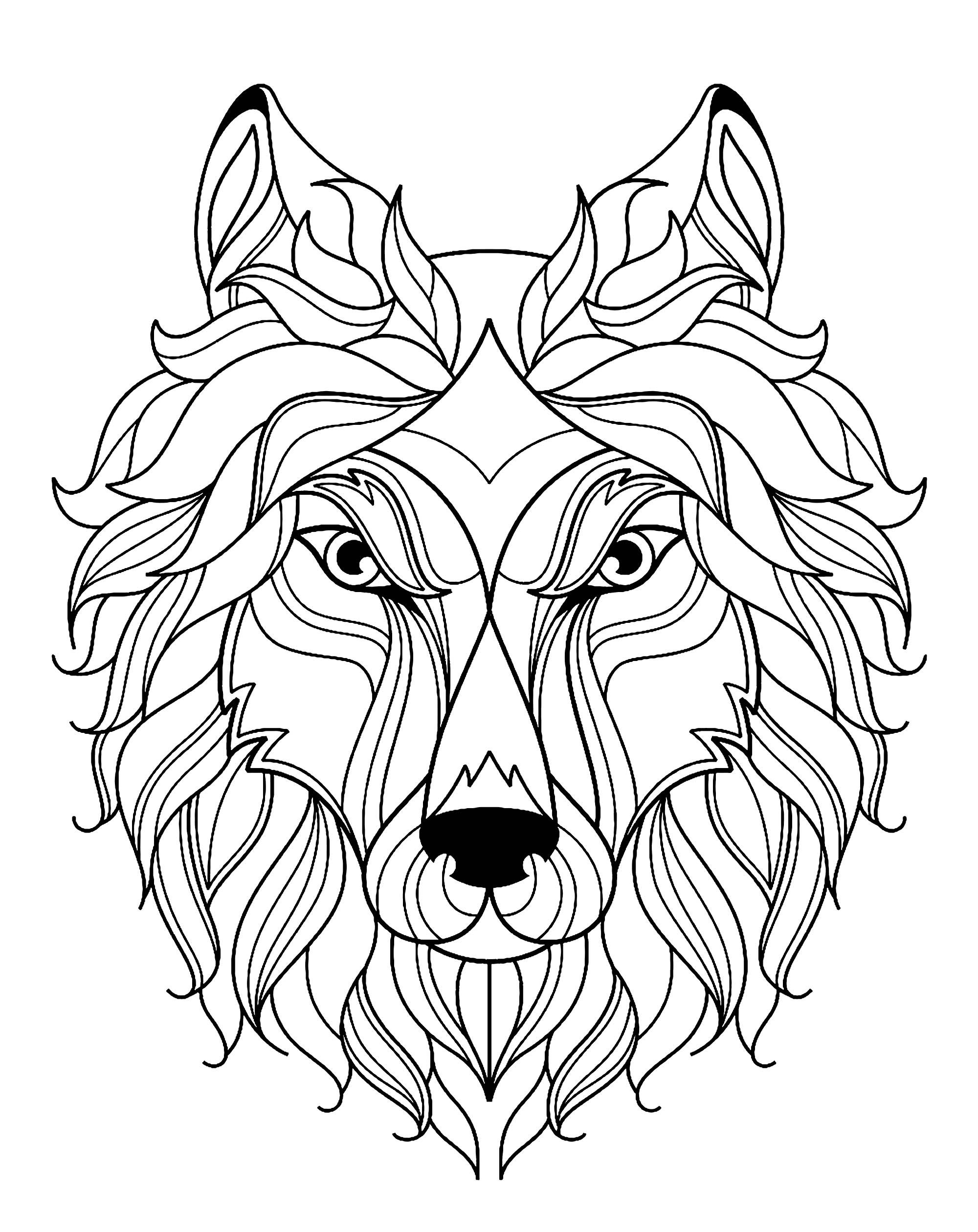 Commercial Coloring Book Anime Wolf