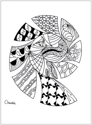 coloring zentangle simple pages adult adults drawing claudia zentangles hard printable justcolor dragons children nggallery thanks coloriage