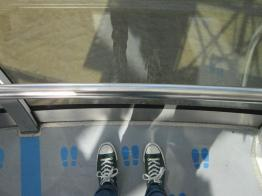 Waiting for my photo op on the London Eye