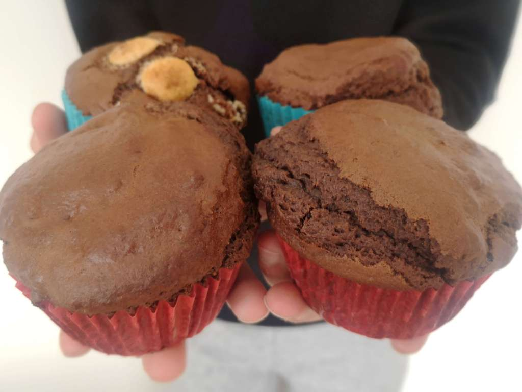 Chocolate Muffins with White Chocolate Chips