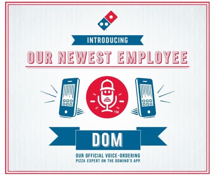 Grafica per ordini vocali di Domino - Ricerca vocale - Marketing digitale nel 2020