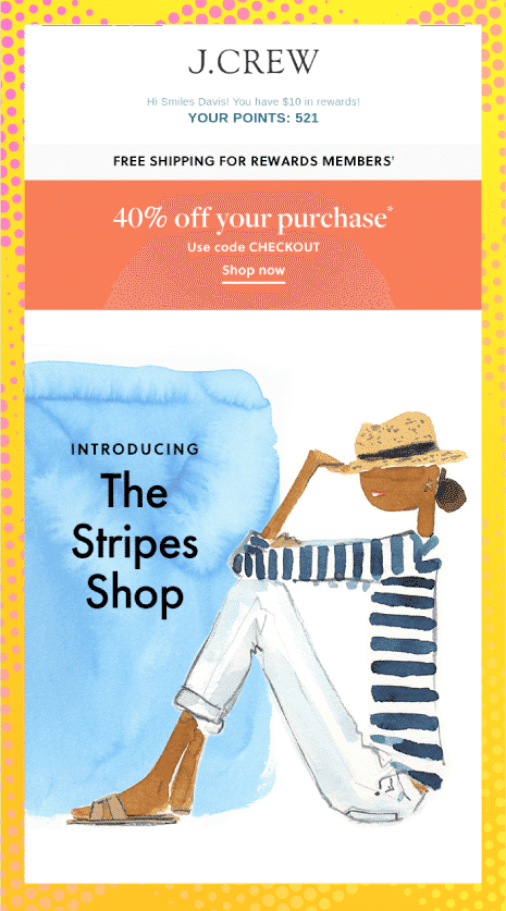 Textured Illustration - Email Design Trends 2021
