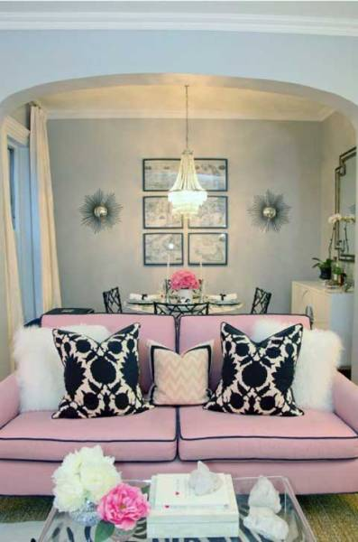 pink glam living room decor Today's 9 Most Popular Decorating Styles! | just decorate!
