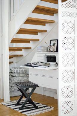 desk and hall storage