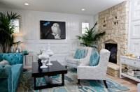 aqua blue and grey living room | just decorate!