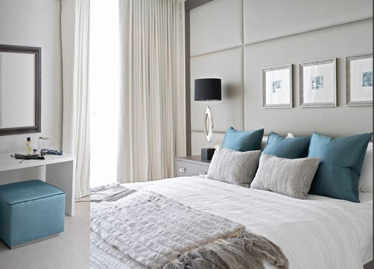 Contemporary Design Master Bedroom Gray And Teal