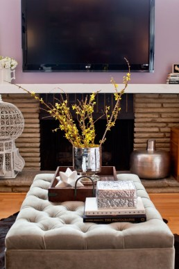 A tray adds emphases on what you want to display