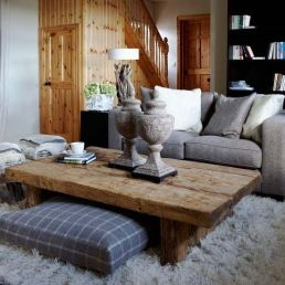 Low profile coffee tables are contemporary and great for putting your feet up