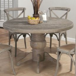 Grey stained wood dinette