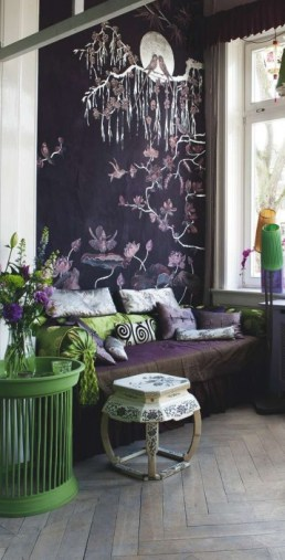 Using an assortment of mauve hues adds visual interest