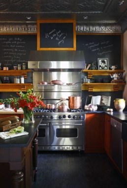 A chef lives in this bistro styled kitchen