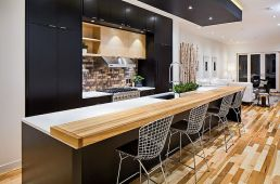 A modern version of black cabinetry