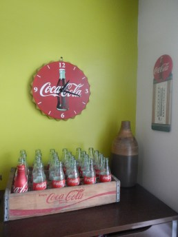 A small sampling of Coke brand collection on display