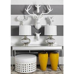 moose-head contemporary white ad gray