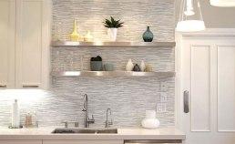 Thin white marble strips
