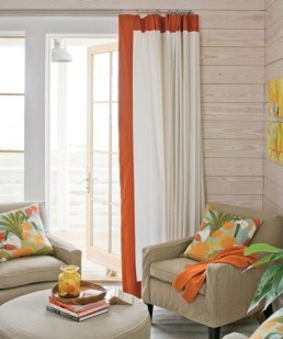 Lovely hanging drapes with boarder detail