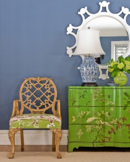 Blue and Green Chinoise inspired motifs