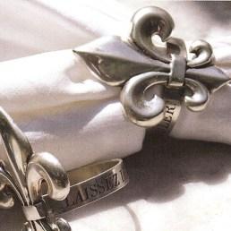 fleur de lis napkin rings