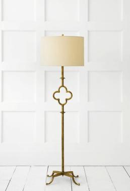 Quatrefoil design lamp stand
