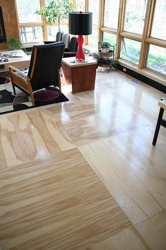 High sheen floors