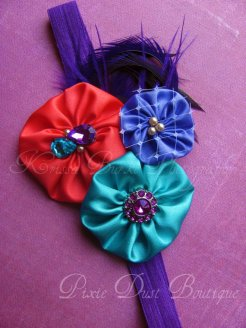 Caribbean Couture headband- Carnival Couture Collection, photo shoot, first birthday