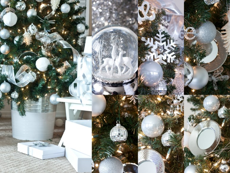 Silver and White Christmas Tree Ideas