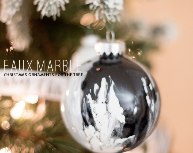 Faux Marble Ornaments
