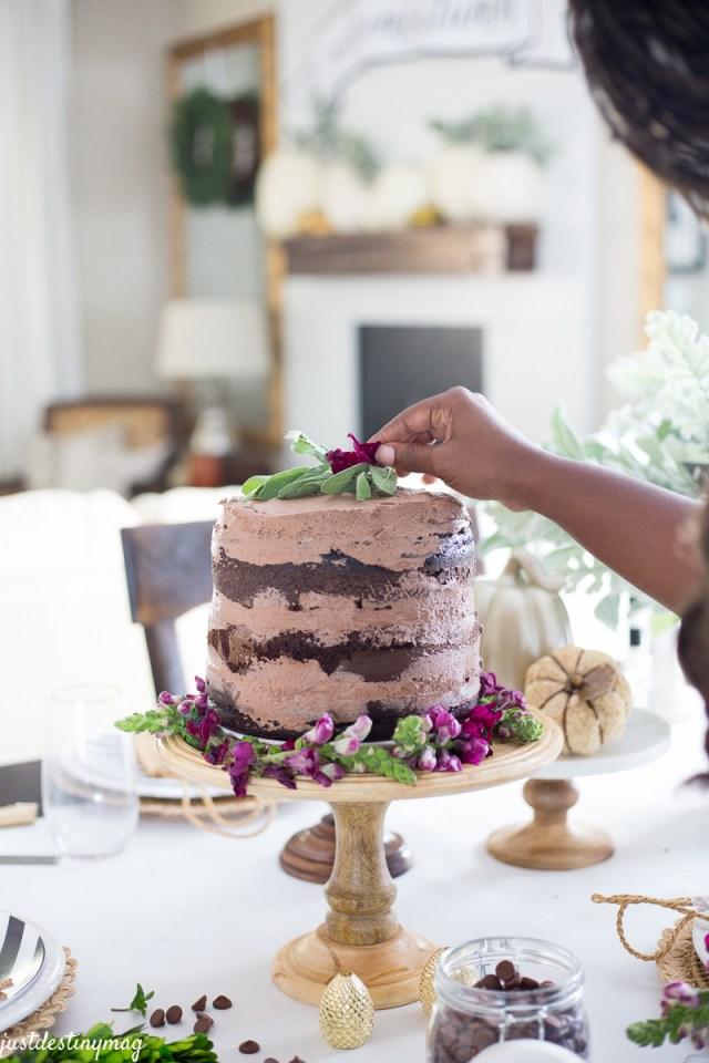 Chocolate Naked Cake - Autumn Wedding_-10