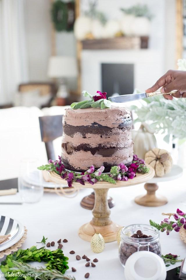 Chocolate Naked Cake - Autumn Wedding_-12