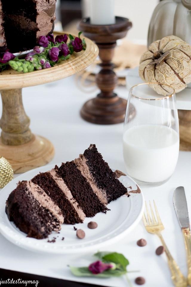 Chocolate Naked Cake - Autumn Wedding_-19