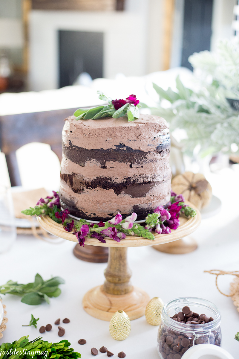 Delicious Chocolate Naked Cake for Fall  Just Destiny
