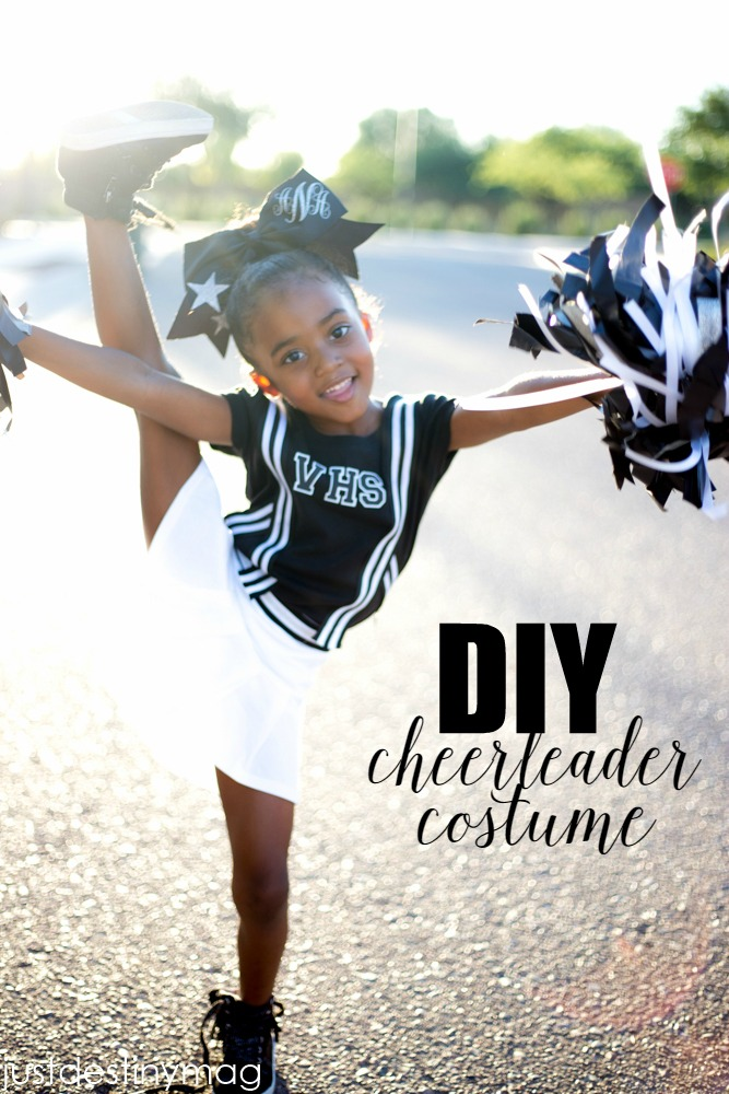 Simple Diy Cheerleader Costume Just Destiny